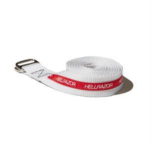HELLRAZOR【 ヘルレイザー】 Lined Rigger Belt - White ベルト ホワイト