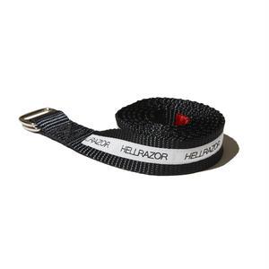 HELLRAZOR【 ヘルレイザー】 Lined Rigger Belt - Black  ベルト ブラック