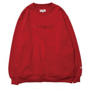 EVISEN【 えびせん】REPLICANT STICH CREW NECK RED クルーネック トレーナー レッド
