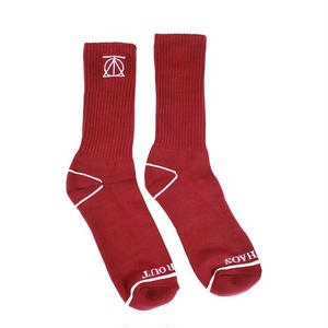 THEORIES【 セオリーズ】Theories Crest Sock Crimson / White ソックス 靴下