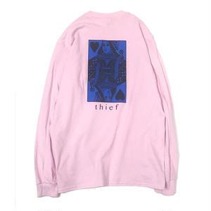 LUCKYWOOD【 ラッキーウッド】 Thief L/S TEE Light Pink ロンT ライトピンク