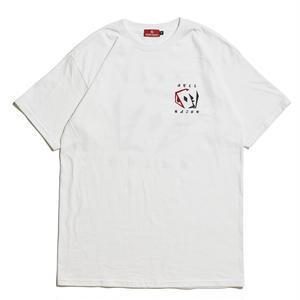 HELLRAZOR【 ヘルレイザー】 CARDS SHIRT - WHITE  Tシャツ ホワイト
