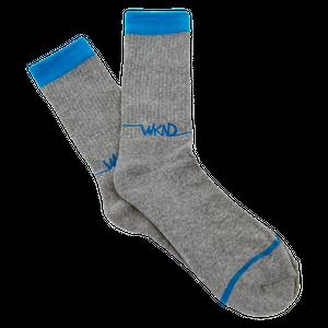再入荷!!!WKND【 ウィークエンド】Line Logo Sock ソックス 靴下 グレー