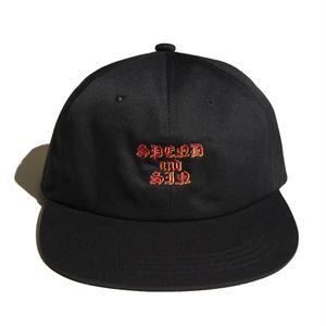 HELLRAZOR【 ヘルレイザー】SPEND AND SIN 6PANEL CAP BLACK キャップ 帽子 ブラック