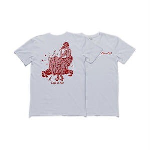 "PASS~PORT【 パスポート】""LADY IN RED"" TEE WHITE Tシャツ ホワイト"
