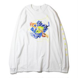 EVISEN【 えびせん】KILL PILL L/S TEE WHITE  Tシャツ ホワイト
