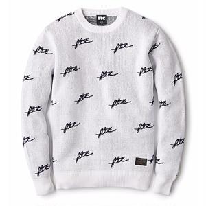 FTC【 エフティーシー】ALLOVER JACQUARD SWEATER WHITE セーター ホワイト