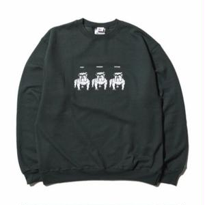 HELLRAZOR【 ヘルレイザー】Never Change Til We Die Crewneck Sweater forest トレーナー クルーネック  フォレスト