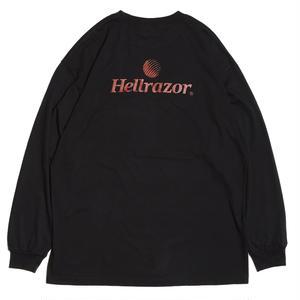 HELLRAZOR【 ヘルレイザー】TRADEMARK LOGO L/S SHIRT ロンT ブラック