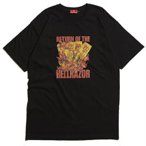 HELLRAZOR【 ヘルレイザー】 RETURN OF THE HELLRAZOR SHIRT - B LACK  Tシャツ ブラック