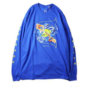 EVISEN【 えびせん】KILL PILL L/S TEE BLUE  Tシャツ ブルー