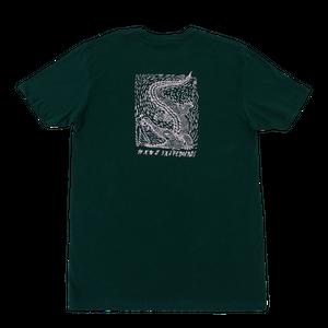 WKND【 ウィークエンド】Alligator Girl Tee - Forest Green  Tシャツ フォレストグリーン