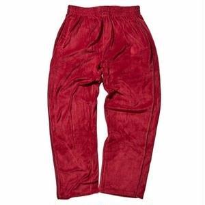 HELLRAZOR【 ヘルレイザー】Logo Velour Pants Bugundy ベロア ジャケット バーガンディ