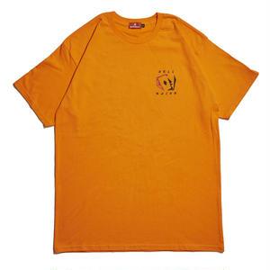 HELLRAZOR【 ヘルレイザー】 CARDS SHIRT - FREST ORANGE  Tシャツ オレンジ