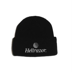 HELLRAZOR【 ヘルレイザー】TRADEMARK LOGO WATCH CAP BLACK ニット帽 ブラック