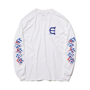 EVISEN【 えびせん】DOSU L/S TEE  WHITE ロンT ホワイト