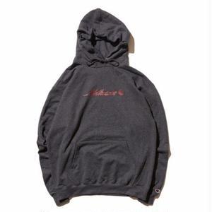 HELLRAZOR【 ヘルレイザー】Park Script Logo Pullover Hoodie - Charcoal Grey プルオーバー パーカー