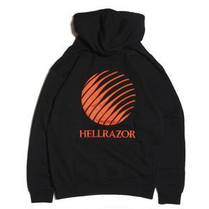 HELLRAZOR【 ヘルレイザー】EMBROIDERED LOGO HOODIE - BLACK プルオーバー パーカーブラック