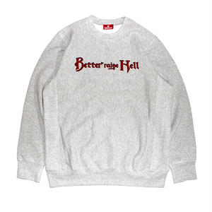 HELLRAZOR【 ヘルレイザー】x Better™️ HELLRAISE AND BETTER CREWNECK GRAY クルーネック トレーナー グレー