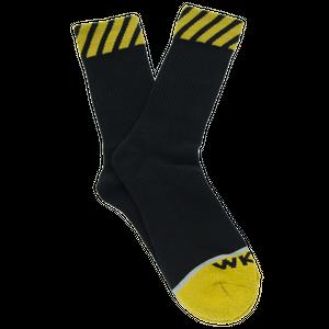 WKND【 ウィークエンド】Caution Sock Black ソックス 靴下 ブラック