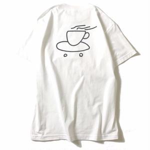 LUCKYWOOD【 ラッキーウッド】COFFEE TEE WHITE  コーヒー Tシャツ ホワイト