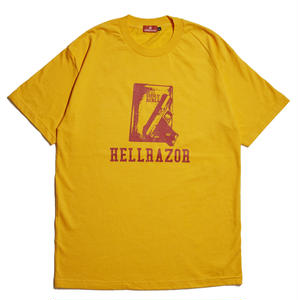 HELLRAZOR【 ヘルレイザー】 WAITING FOR A CALL SHIRT - GOLD  Tシャツ ゴールド