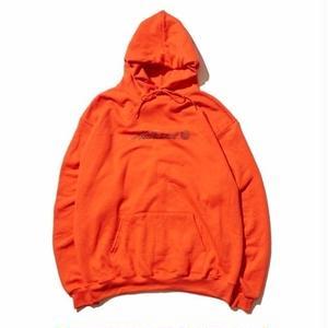 HELLRAZOR【 ヘルレイザー】Park Script Logo Pullover Hoodie - Orange プルオーバー パーカー