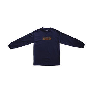 "PASS~PORT【 パスポート】""INTERNATIONAL EMBROIDERY"" L/S TEE NAVY ロンT  ネイビー"