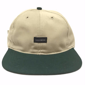 LUCKYWOOD【 ラッキーウッド】2TONE CAP KHAKI GREEN キャップ