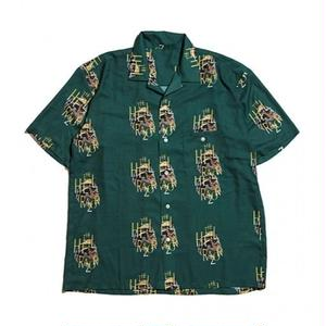 HELLRAZOR【 ヘルレイザー】 Golden Horse S/S Shirt - Deep Green 半袖シャツ グリーン