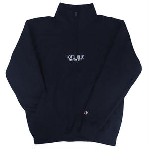 HOTELBLUE【 ホテルブルー】CHAMPION QUARTER ZIP STEEL NAVY ネイビー