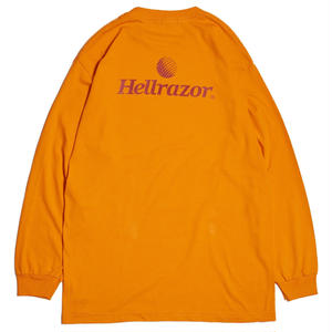 HELLRAZOR【 ヘルレイザー】TRADEMARK LOGO L/S SHIRT ロンT オレンジ