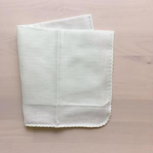 カラーガーゼハンカチ cotton100%  【 lime  green 】[NT-1119]