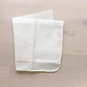 カラーガーゼハンカチ cotton100%  【 cream yellow 】[NT-1117]