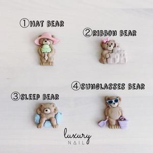 luxury nail Original Select Marking Parts【 Vacation bear 】