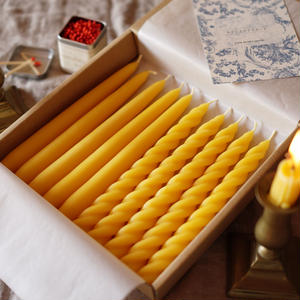 taper candle box -yellow-