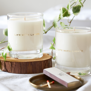 glass candle ellis