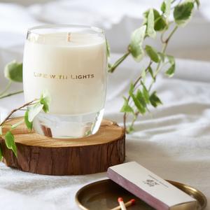 glass candle clochette