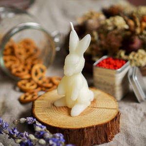 bunny candle white