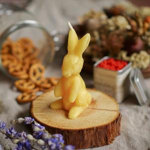 bunny candle yellow