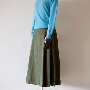 <Last 1> Tailor the Dress / Tuck Volume Skirt - Olive