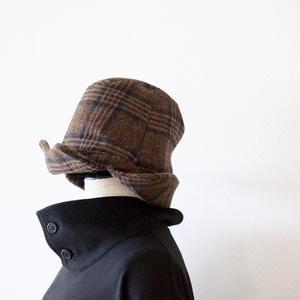 KaIKI / ウールチェック ロシアン帽 - Brown×Black