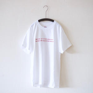 <Last 1> ajouter Original Tee / NEVER LET・・・ (HANES BEEF BODY) / ホワイト