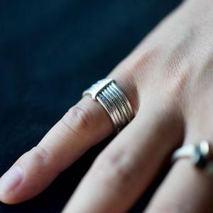 Touareg Silver Ring /10