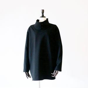 KaIKI / ヘリンボーンプルオーバーシャツ - Black