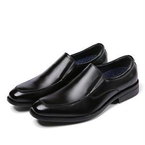 【Jo Marino】高品質 本革 メンズ ビジネス レザーシューズ 革靴 紳士靴 通気性 空気循環 消臭 衝撃吸収 幅広 軽量 7714-BLACK