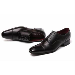 【Jo Marino】 高品質 本革 メンズ 革靴 ビジネスシューズ 紳士靴 防滑 撥水アッパー 高反発インソール 3E 多機能-778-BLACK