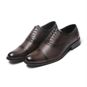 【Jo Marino】 高品質 日本製 ビジネスシューズ 本革 メンズ 革靴 紳士靴 MADE IN JAPAN-1182-DARK.BROWN