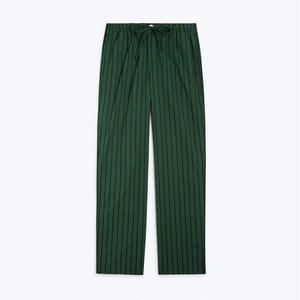SLEEPY JONES // Marina Pajama Pant Tie Stripe Green & Navy