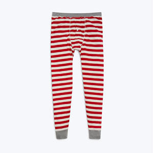 SLEEPY JONES // Kieth Long Johns Red Slub Stripe